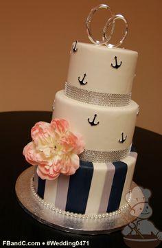 anchor wedding cake, wedding cakes