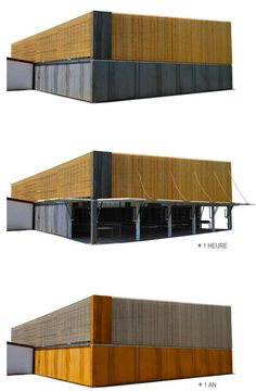 La Halle du Robin by AP5 Architects steel and wood with doors