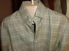 Spring sale Vintage Kiton green plaid button up by Simplemiles, $75.00