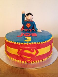 3rd birthday Superman cake