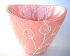 Sopera cerámica cerámica hecha a mano motivos botánicos