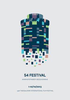 """inspireanddesign: """"(via Graphic Design / Poster for Thessaloniki Film Festival on Behance — Designspiration) """" Latino Film Festival, Festival Cinema, Festival Posters, Art Festival, City Poster, Poster S, Poster Prints, Thessaloniki, Design Poster"""
