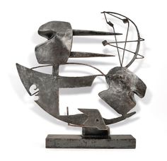 David Smith, Ad Mare (1938), Welded steel construction, 27 1/2 × 27 × 8 in