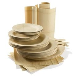 Wood & Bamboo Dinnerware - Party at Lewis Elegant Party Supplies, Plastic Dinnerware, Paper Plates and Napkins