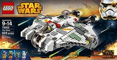 LEGO Star Wars 75053 The Ghost Building Toy. Comes with 4 minifigures from Star Wars Rebels. Star Wars Gifts. Gifts and Presents for Star Wars Fan(atic)s!