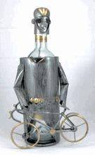 Cyclist Metal Wine Bottle Holder