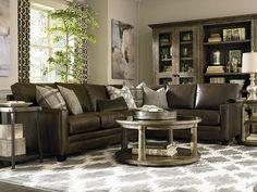 Bassett Furniture - custom leather Ladson sectional