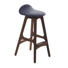 Erik Buch Bar Stool  Timbers: Oak,and Walnut Upholstery New in 2013: Slate Grey,Classic Black and Tobacco Swivel seat option available  Seat height - 680mm Height with swivel component adds an extra 10mm to height - 690mm