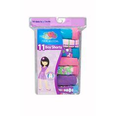 Fruit of the Loom Girls' 11-Pack Boy Short: Girls : Walmart.com size 4
