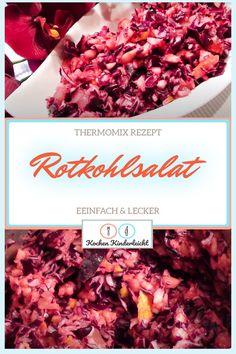 """Rotkohlsalat Thermomix selber machen mit diesem einfachen Rezept Video - Delikat und flott, so wie bei Großmutter. Sämtliche Zutaten für """"Rotkohlsalat - Thermomix Rezept - einfach & lecker"""" und die Zubereitung finden Sie nachfolgend. Flott, Beef, Recipes For Beginners, Diy, Food Food, Meat, Steak"""