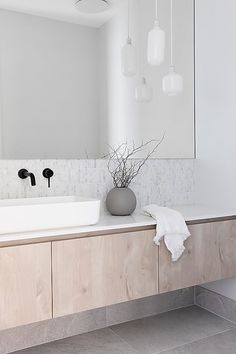 This hand cast round ceramic vase is the perfect way to complete your space. It features a matt finish for an understated look. Bathroom Design Inspiration, Modern Bathroom Design, Bathroom Interior Design, Ensuite Bathrooms, Bathroom Renos, Stone Bathroom, Bathroom Goals, Bathroom Styling, Beautiful Bathrooms