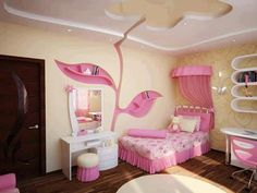 What a beautiful little girls room.