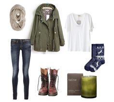 military/combat boots/candel/tumblr/hipster/jacket/scarf/knit/socks/white/olive/cool/winter outfit