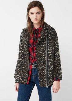 Animal design jacket - Jackets for Woman | MANGO USA