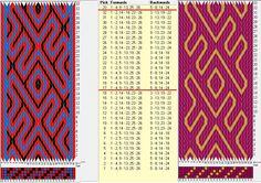 26 tarjetas, 3-2 colores, repite cada 16 movimientos // sed_919a diseñado en GTT༺❁