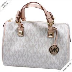 Michael Kors Grayson Large Womens Satchel Handbag With Monogram Logo Handbags