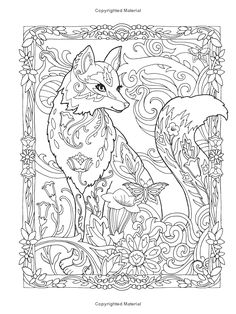 Creative Haven Fanciful Foxes Coloring Book (Adult Coloring) (9780486806198): Marjorie Sarnat