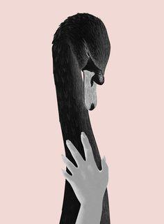 #illustration 'Leda and The Swan' by Juan Chavarria Jr.