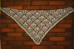 Crochet scarf, pattern here http://crochet-shawls.blogspot.fi/2012/06/shawl-gorgeous-lace-crochet-shawl.html