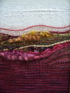 Landscape_Weavings - Page: 1 of 2 woven by Linda Banks Hansee Pin Weaving, Weaving Art, Tapestry Weaving, Loom Weaving, Sculpture Textile, Textile Fiber Art, Textile Artists, Weaving Textiles, Weaving Projects