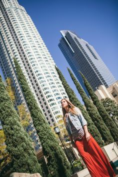 Among the LA high-rises.  Senior Pictures.  Vis Photography