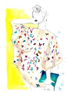 The Butterfly Blouse, #watercolor by Jessica Durrant