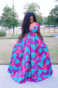 Ankara Dress African Print Gown African fashion Source by Latest Ankara Dresses, Ankara Maxi Dress, African Prom Dresses, Ankara Dress Styles, African Fashion Dresses, Fashion Outfits, Mens Fashion, Fashion Ideas, Fashion Styles