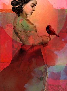 Domenica: If you can't find at least a little happiness wher... Art:Catrin Welz Stein