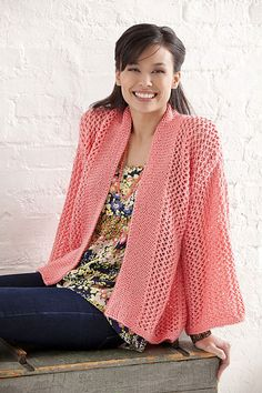 Ravelry: Bright & Breezy Kimono pattern by Marlaine DesChamps