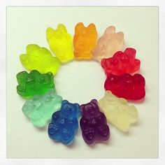 gummy bears (photo by Bear Photos, Just Girly Things, Gummy Bears, Color Patterns, Sweet Tooth, Eye Candy, Cupcakes, Sweets, Colors