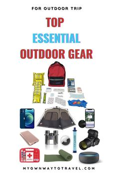 Top essential outdoor gear | outdoor essentials amazon | best outdoor checklist | camping outdoor gear | cool outdoor gear for travelers | travel photography outdoor gear | electronic outdoor travel gear | best camping essentials | #outdoortrip #outdoorgear #outdooressentials #outdoorgearchecklist #campingessentials #essentialgears #travelpacking #myownwaytotravel Travel Items, Ways To Travel, Travel Products, Travel Advice, Camping Life, Camping Hacks, Camping Stuff, Camping Ideas, Outdoor Travel