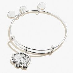 CustomCharms Connecticut State Gold Expandable Wire Charm Bracelet Bangle w//Orange Color Crystals