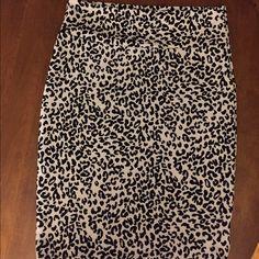 LuLaRoe Skirts - XL black and white leopard Lularoe Cassie