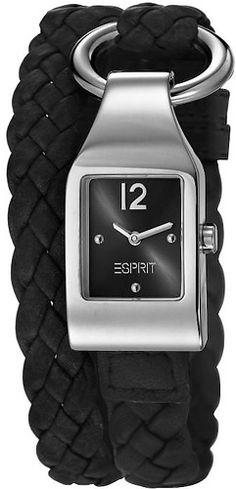 Esprit Buckle Up Black horloge - Trendjuwelier. Shops, Oras, Square Watch, Fitbit, Jewels, Watches, Accessories, Black, Fashion