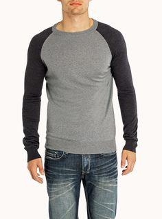 Italian merino wool crew neck sweater