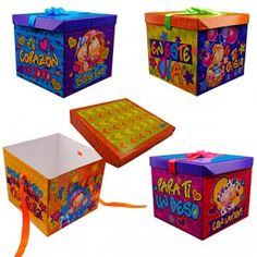 Cajas de Regalo Decorative Boxes, Packaging, Home Decor, Amor, Explosion Box, Gift Baskets, Decorated Boxes, Original Gifts, Decoration Home