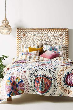 Home decor - Anthropologie Artisan Quilts by Delissa Quilt Anthropologie Home, Anthropologie Bedding, Style Deco, Home Bedroom, 60s Bedroom, Garden Bedroom, Bedrooms, Bedroom Crafts, Bedroom Ideas