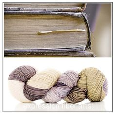 Oh be still my heart! Old Library Books colorway dyed onto resilient superwash merino wool sock #yarn. Mm mm mm. Makes me wanna read a juicy book. How about you?