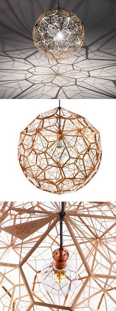 likes this bedroom lighting idea. Tom Dixonu0027s Etch Web lamp is totally  stunning, in fact almost as beautiful as