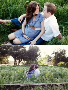This has got to be the cutest maternity picture ever, and I'm not even a huge fan of maternity pics