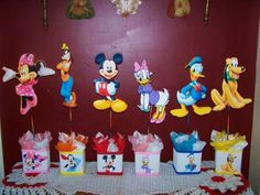 Birthday Party Centerpieces- Mickey Mouse Minnie Goofy Daisy Donald and Pluto