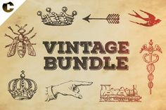 Vintage Bundle Symbols Graphics Bundle illustrations based on early century publications.To see full pre by Colatudo Store Business Brochure, Business Card Logo, Pencil Illustration, Digital Illustration, Crown Symbol, Old Wood Texture, Script Type, Wood Background, Creative Sketches