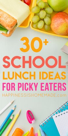 Looking for healthy school lunch ideas for picky eaters? These lunches for picky eaters are sure to spark your imagination and expand your picky child's lunch menu options! lunch ideas for school Creative School Lunches, Kids Lunch For School, Healthy Lunches For Kids, Toddler Lunches, Kids Meals, School Meal, Packed Lunch Ideas For Kids, Lunch Ideas For Toddlers, Healthy Meals