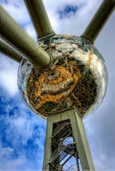 The iconic Atomium Brussels, Belgium. The complete Brussels guide is on theculturetrip.com right now!