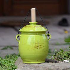 Kvašák malý buclatý 2 l- Jarní louka Watering Can, Jar, Canning, Home Canning, Jars, Glass, Conservation