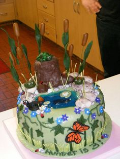 Birthday Cakes nature cake BuildingsScenery Pinterest