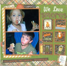 We love smores...grandkids Dominic & Audrey - Scrapbook.com