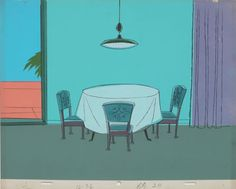 room dining background animation alvin fancy cartoon backgrounds environment decor
