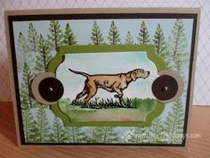 Stamp & Scrap with Frenchie: The Wilderness Awaits and watercolor