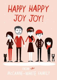 Custom holiday cards! Choose clothing, colors, hairstyles, etc. 11 great options!